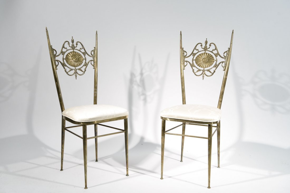 "(2) PAIR OF ITALIAN ""CHIAVARA"" CHAIRS"