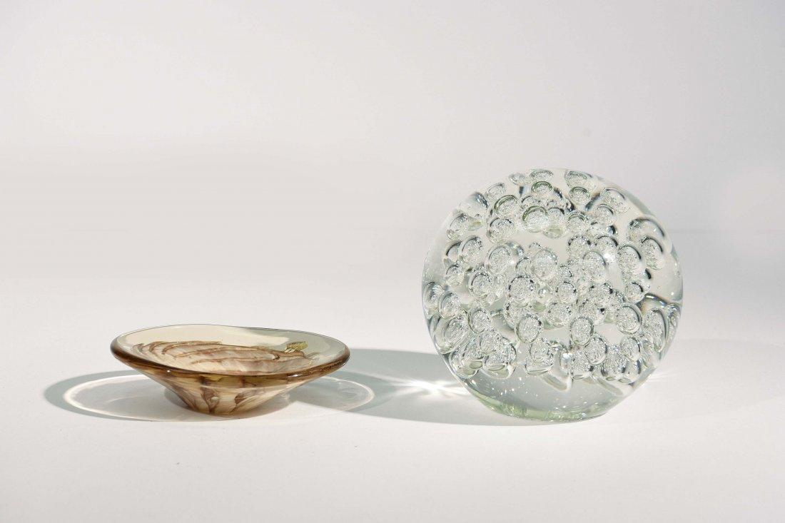 MURANO GLASS SPHERE & DISH