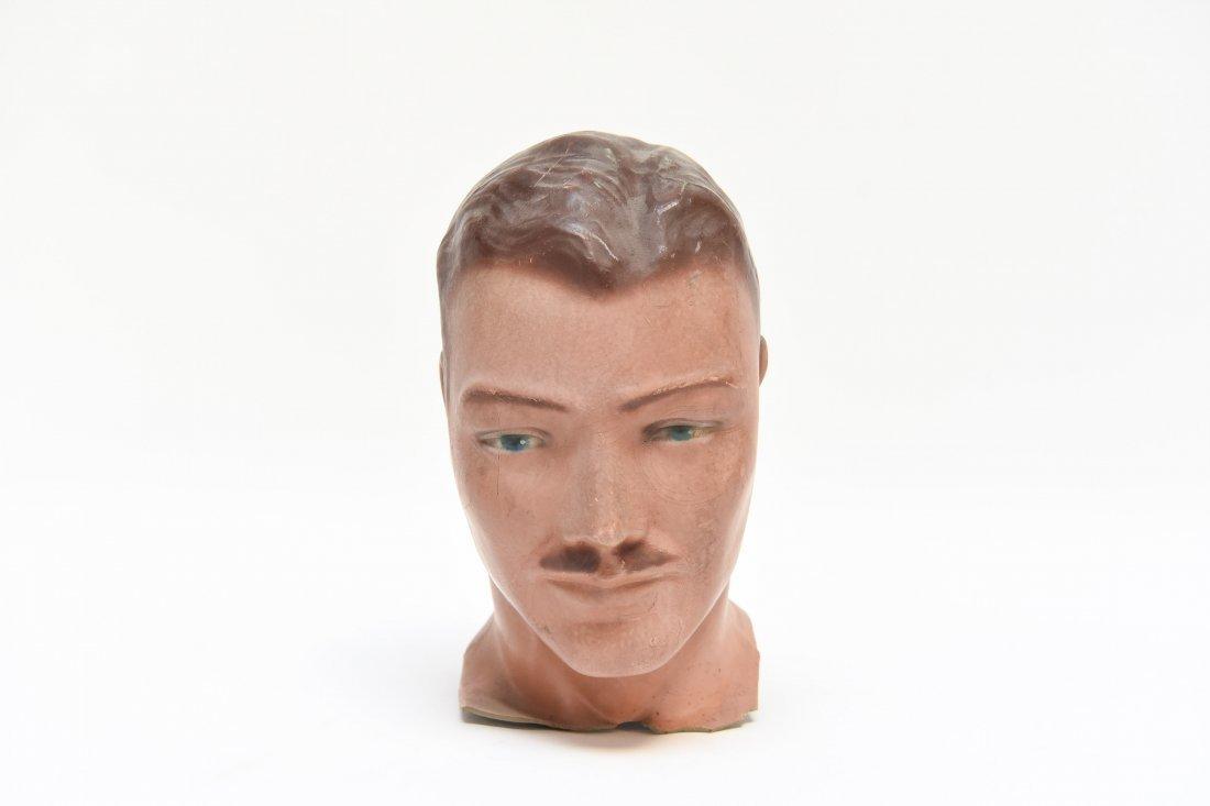 VINTAGE RUBBER MANEQUIN HEAD