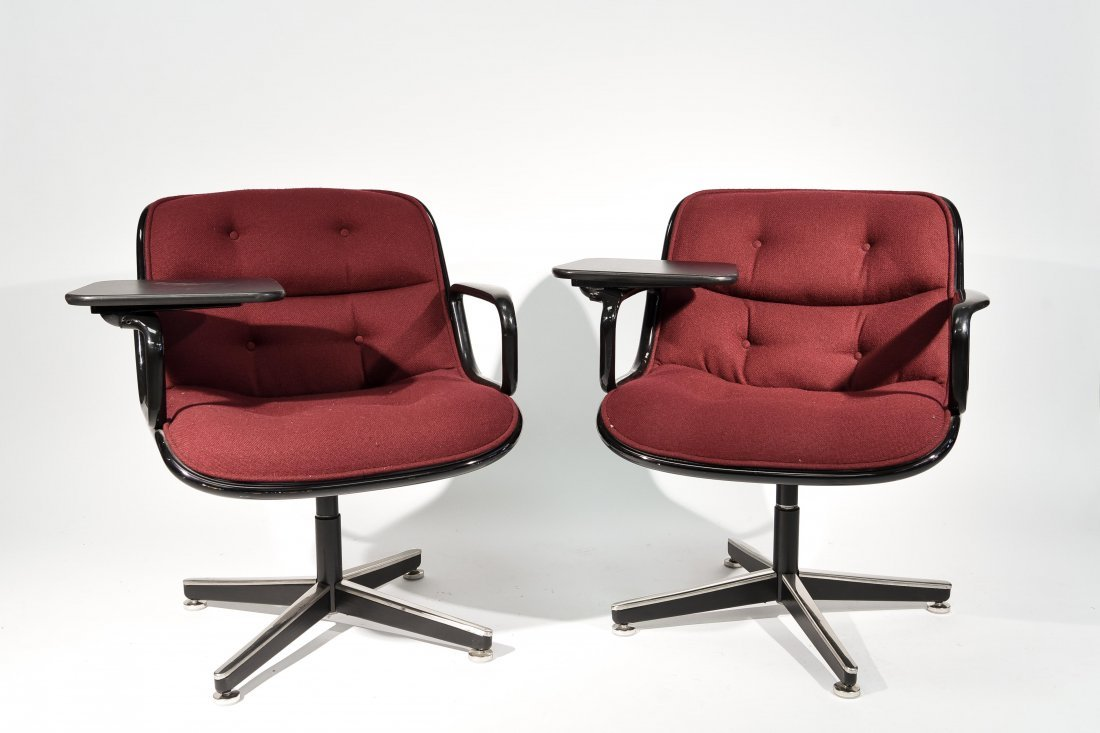 (2) CHARLES POLLACK; KNOLL CHAIRS