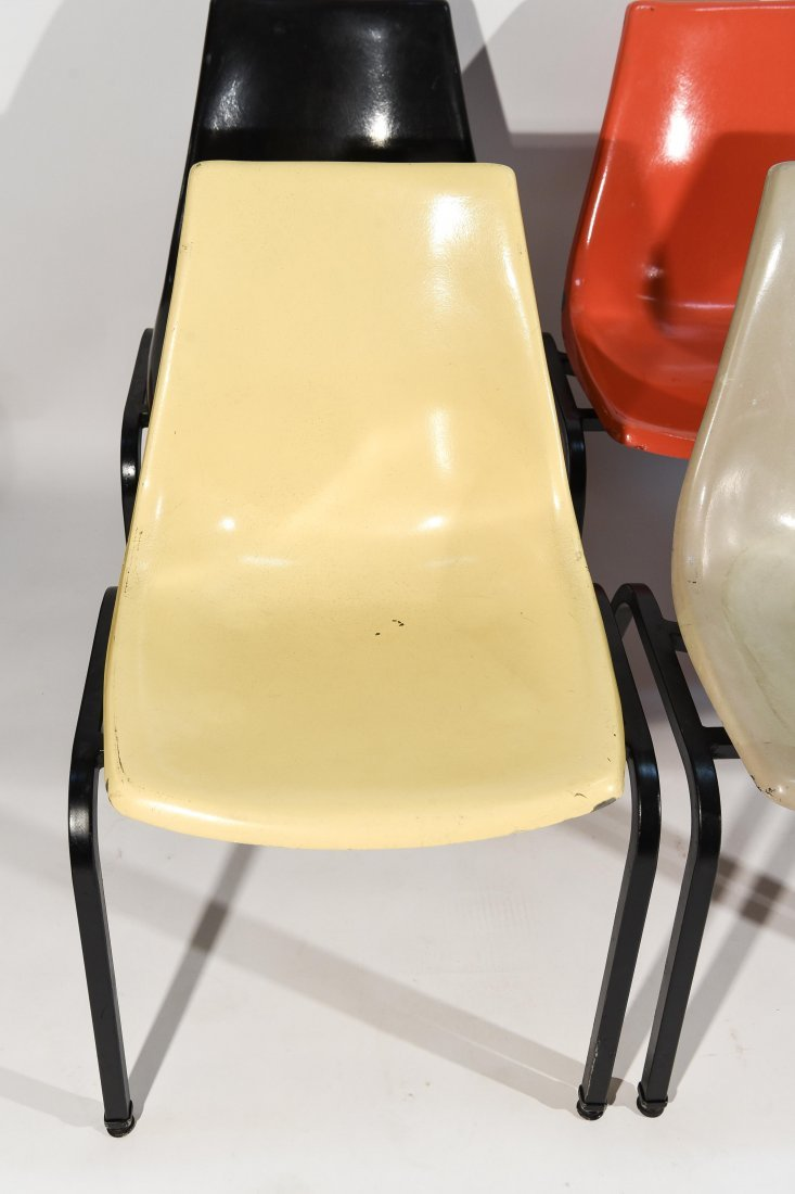 (8) EAMES SYLE STACKING FIBERGLASS CHAIRS - 2