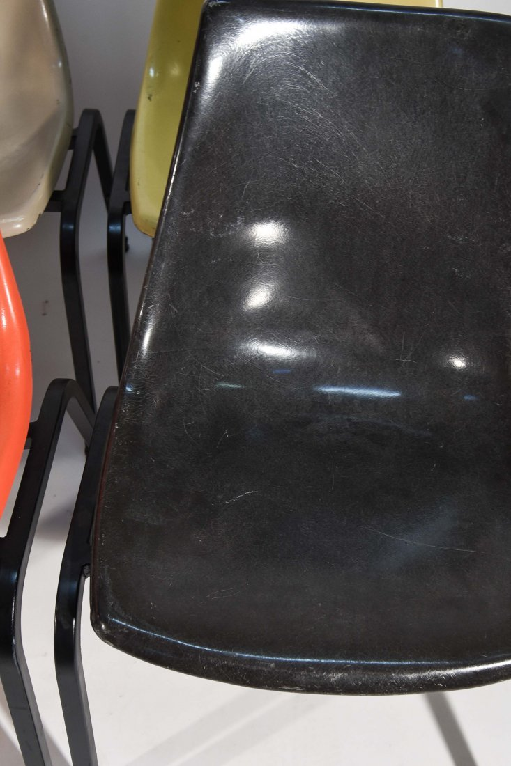 (8) EAMES SYLE STACKING FIBERGLASS CHAIRS - 5