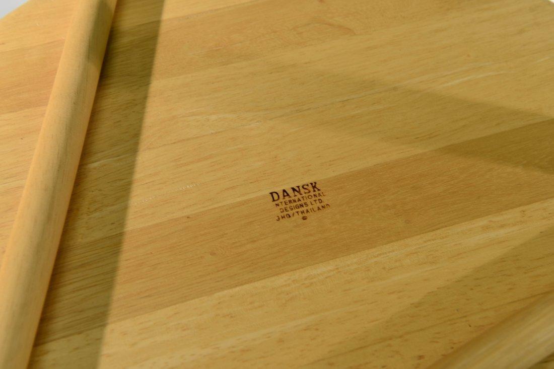DANSK WOOD ROLLING TRAY - 7