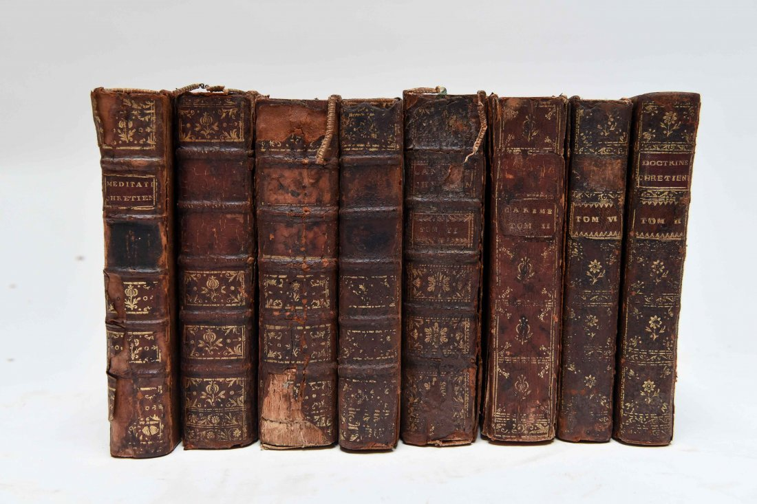 18TH C. FRENCH CHRISTIANITY BOOKS