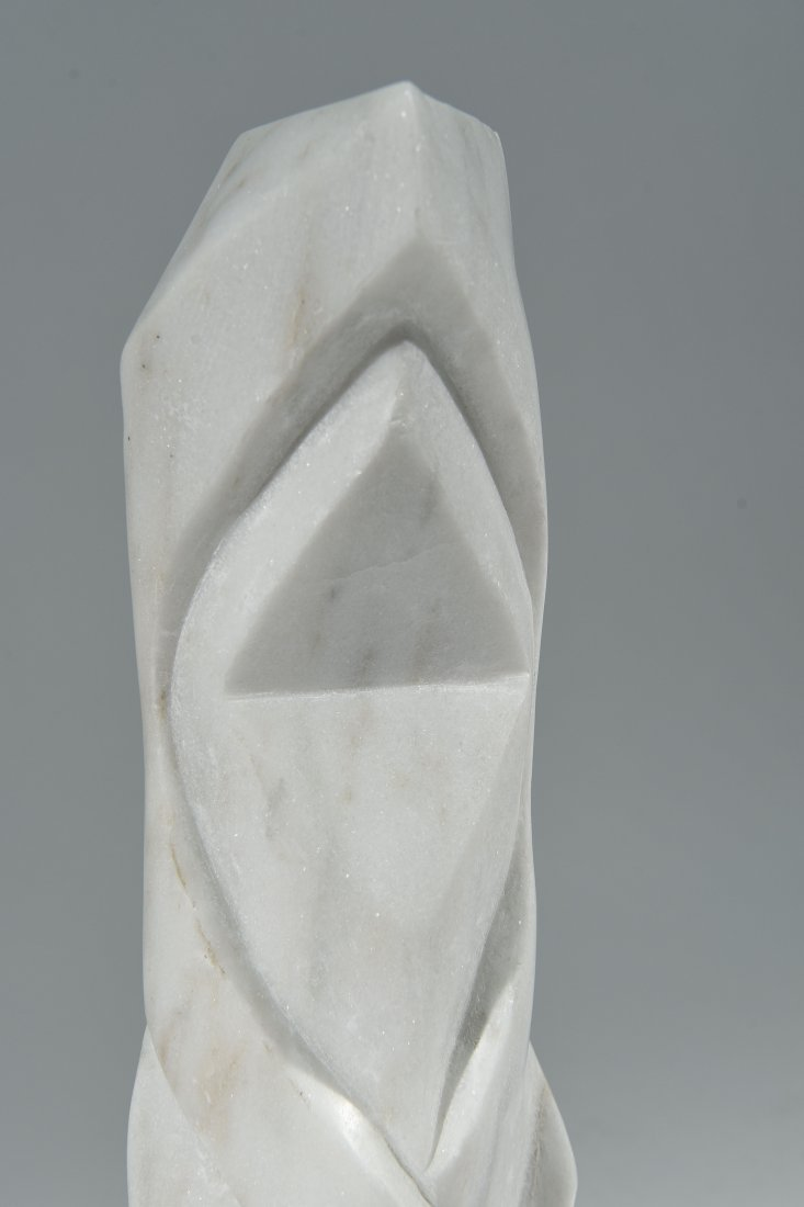 WHITE CARVED MARBLE SCULPTURE - 2