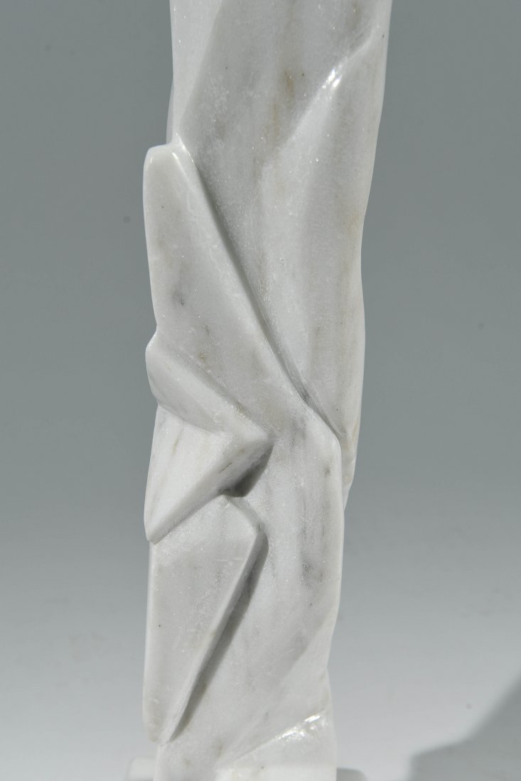 WHITE CARVED MARBLE SCULPTURE - 6