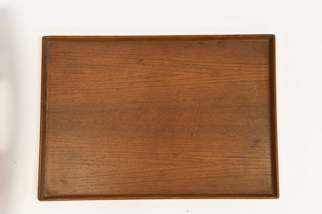 TWO TEAK TRAYS - 2