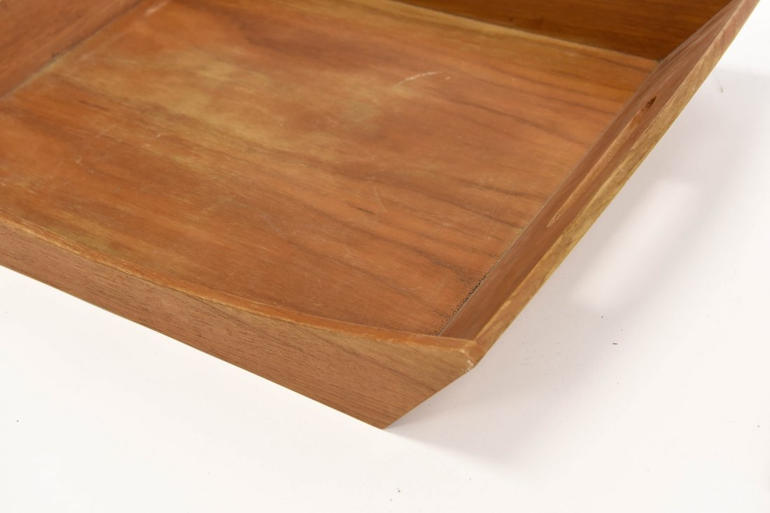 TWO TEAK TRAYS - 4