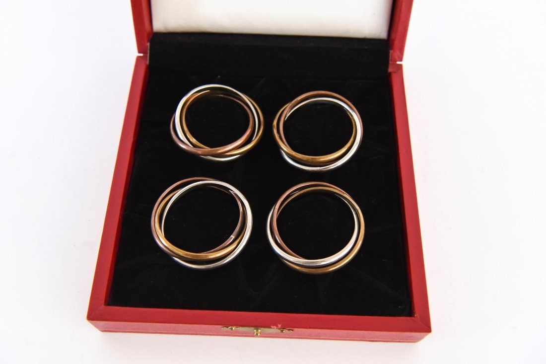 CARTIER NAPKIN RING HOLDERS (SET #1) - 2