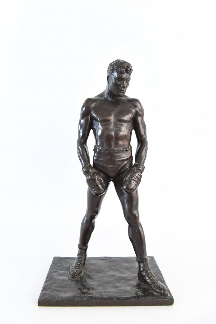 """GORHAM BRONZE OF BOXER, TITLED """"THE COUNT"""""""