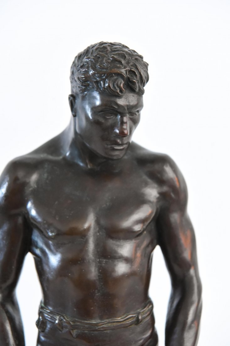 """GORHAM BRONZE OF BOXER, TITLED """"THE COUNT"""" - 2"""