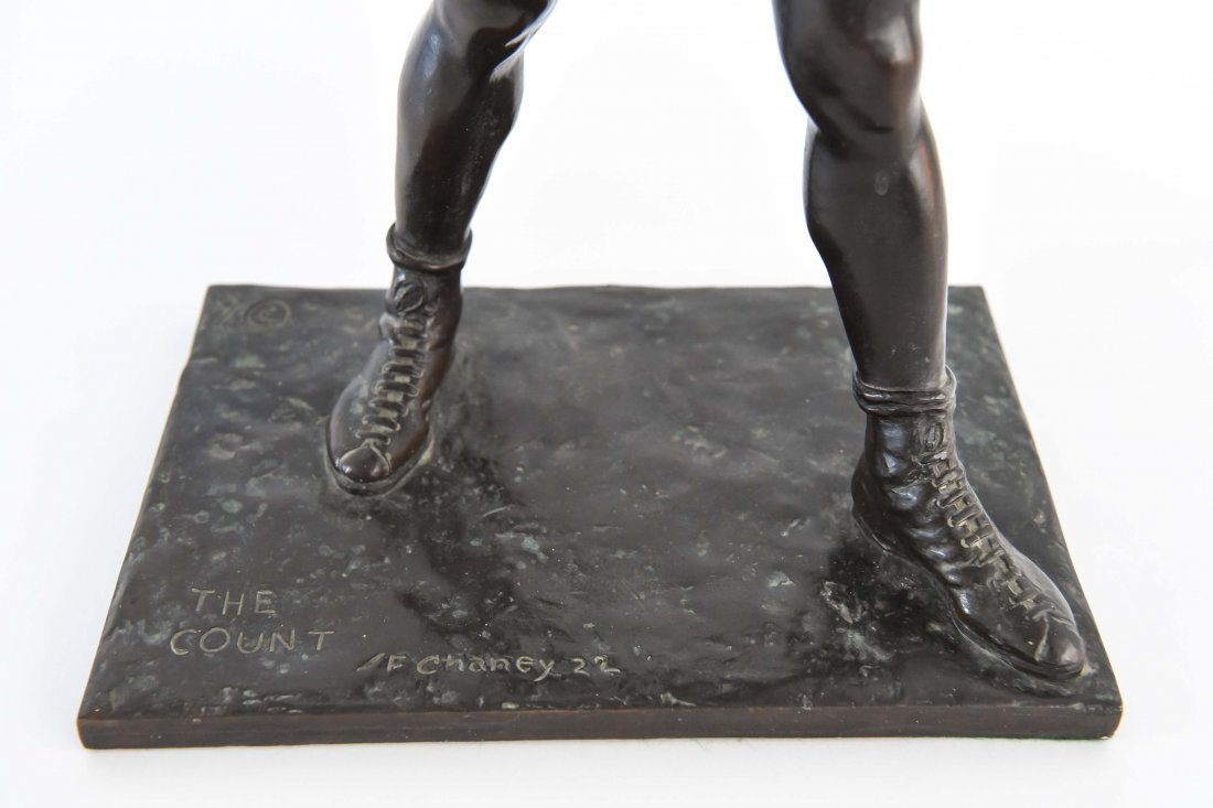 """GORHAM BRONZE OF BOXER, TITLED """"THE COUNT"""" - 5"""
