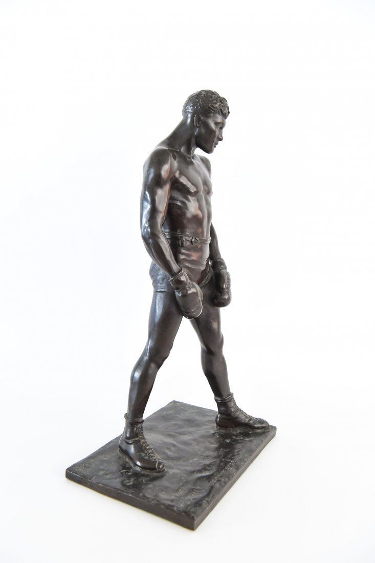 """GORHAM BRONZE OF BOXER, TITLED """"THE COUNT"""" - 7"""