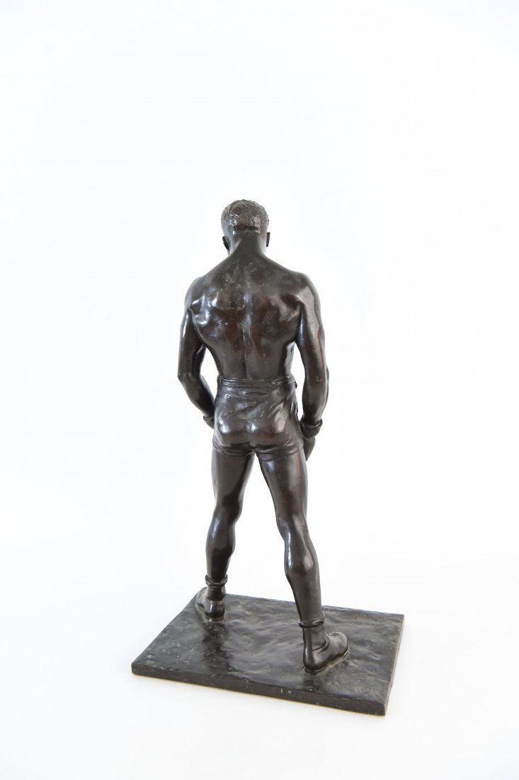"""GORHAM BRONZE OF BOXER, TITLED """"THE COUNT"""" - 8"""