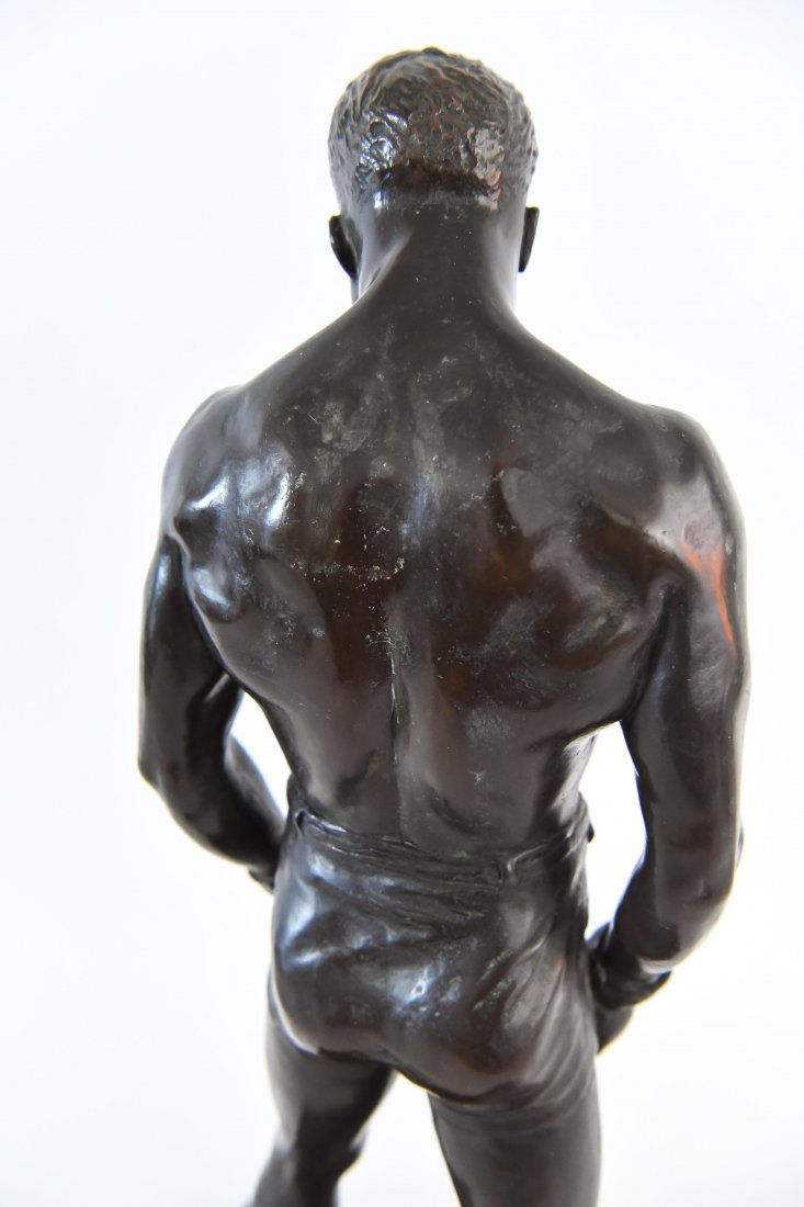 """GORHAM BRONZE OF BOXER, TITLED """"THE COUNT"""" - 9"""