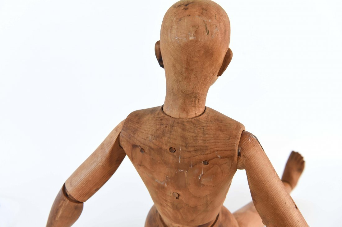 LARGE CARVED WOOD MANNEQUIN FIGURE - 10
