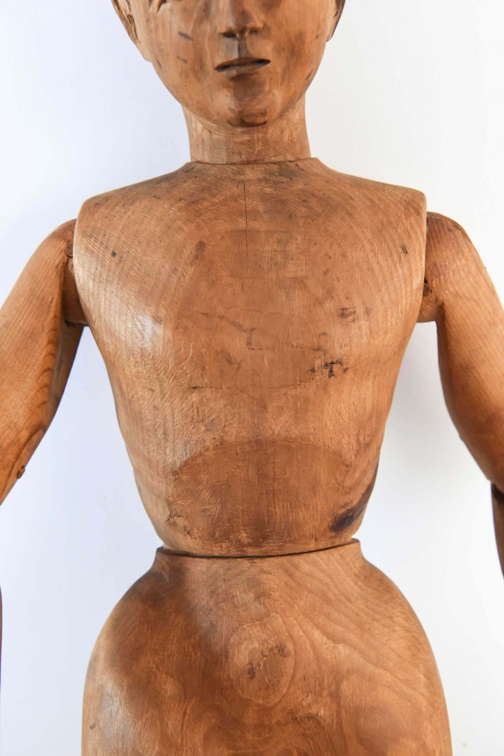 LARGE CARVED WOOD MANNEQUIN FIGURE - 5