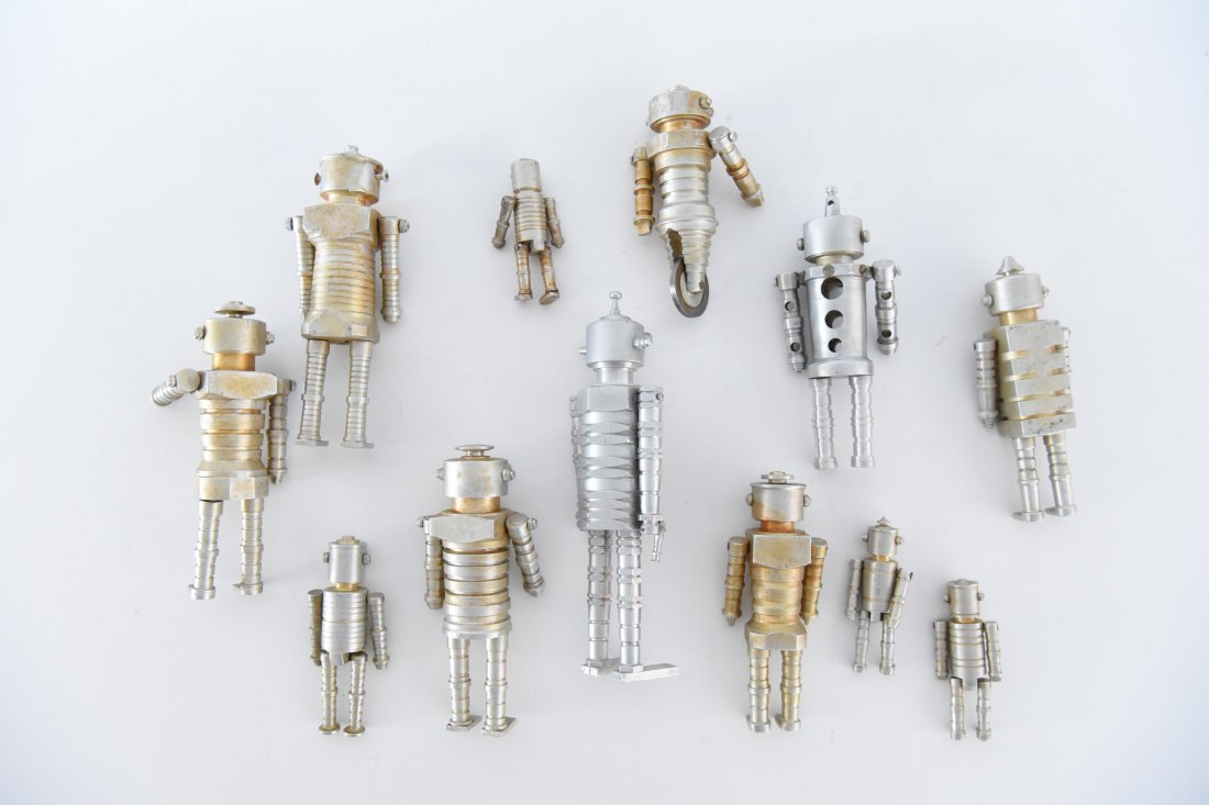 (12) MACHINE AGE ROBOT FAMILY SCULPTURES - 10