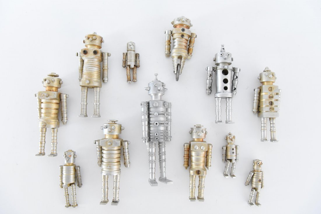 (12) MACHINE AGE ROBOT FAMILY SCULPTURES