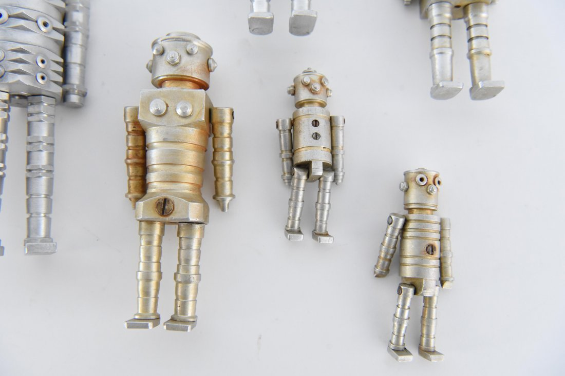 (12) MACHINE AGE ROBOT FAMILY SCULPTURES - 2