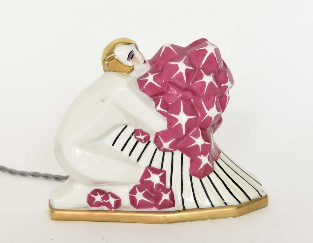 ART DECO FRENCH PORCELAIN PERFUME LAMP