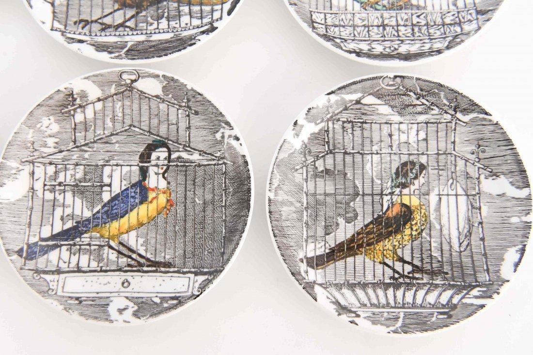 FORNASETTI MODERNIST BIRD PEOPLE COASTER SET - 3