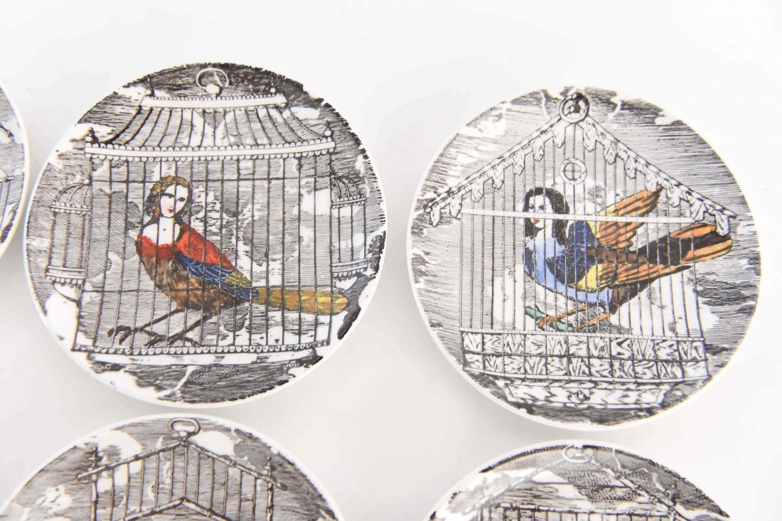FORNASETTI MODERNIST BIRD PEOPLE COASTER SET - 4