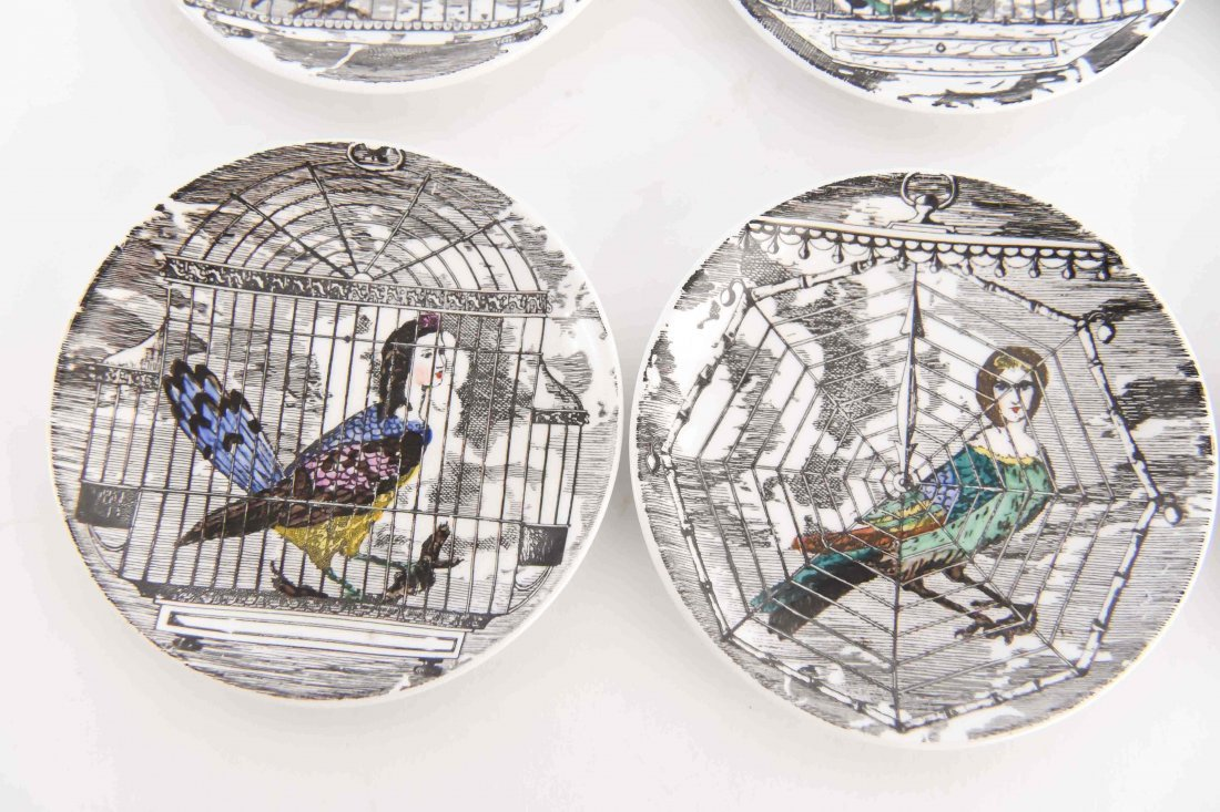 FORNASETTI MODERNIST BIRD PEOPLE COASTER SET - 6
