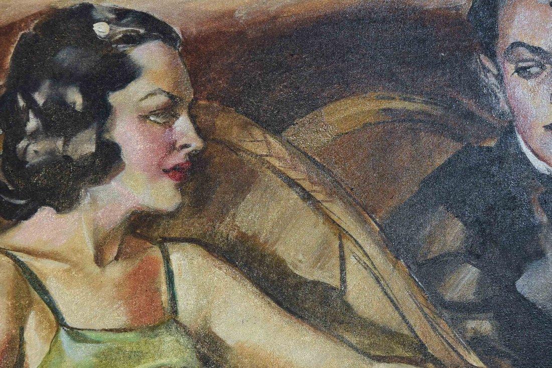 ROMANTIC PULP MAGAZINE ART DECO ILLUSTRATION - 2