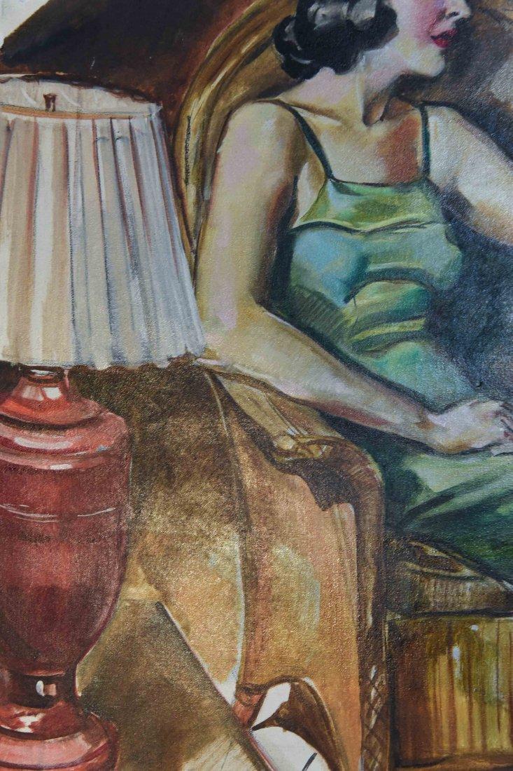 ROMANTIC PULP MAGAZINE ART DECO ILLUSTRATION - 4