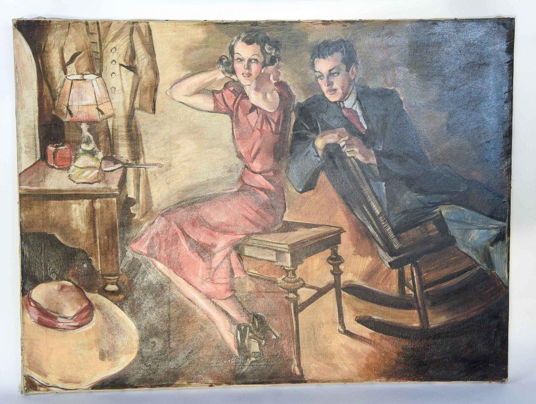 ROMANTIC PULP MAGAZINE ART DECO ILLUSTRATION