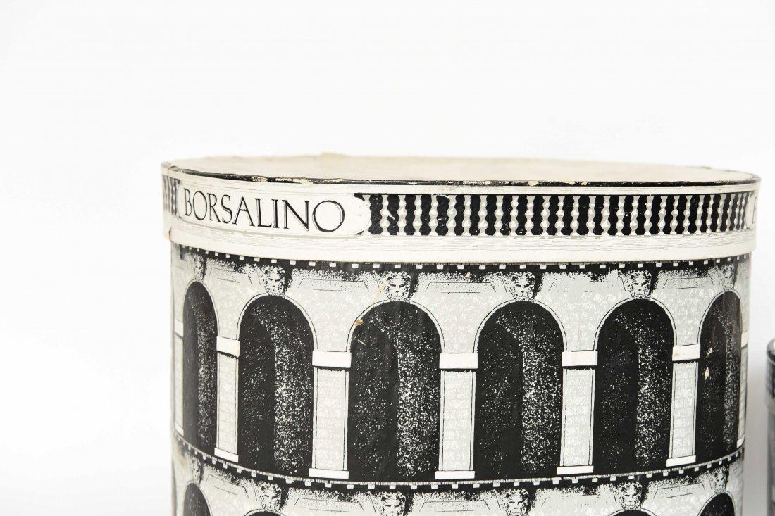 (2) FORNASETTI STYLE BORSALINO HAT BOXES - 3