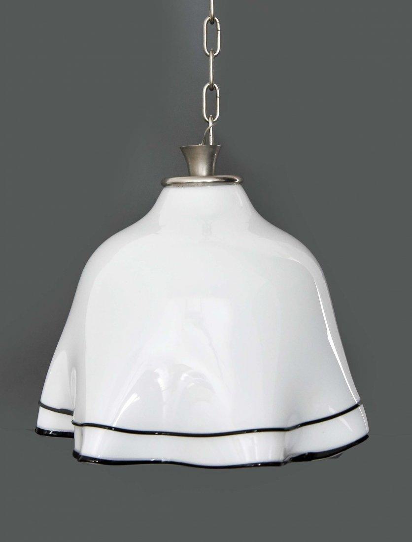 MURANO GLASS MODERNIST DRAPED SKIRT LAMP