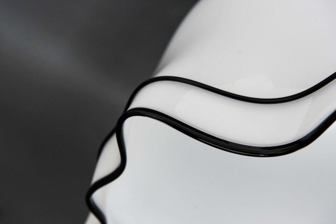 MURANO GLASS MODERNIST DRAPED SKIRT LAMP - 6