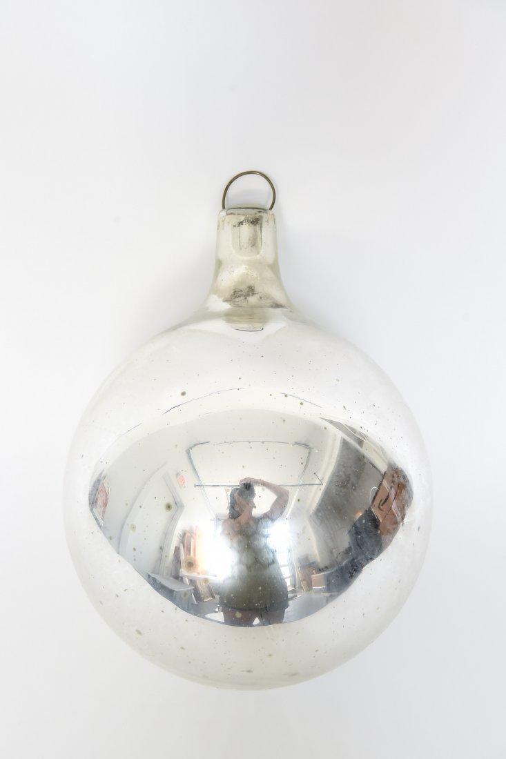 VINTAGE MERCURY GLASS OVERSIZE ORNAMENT