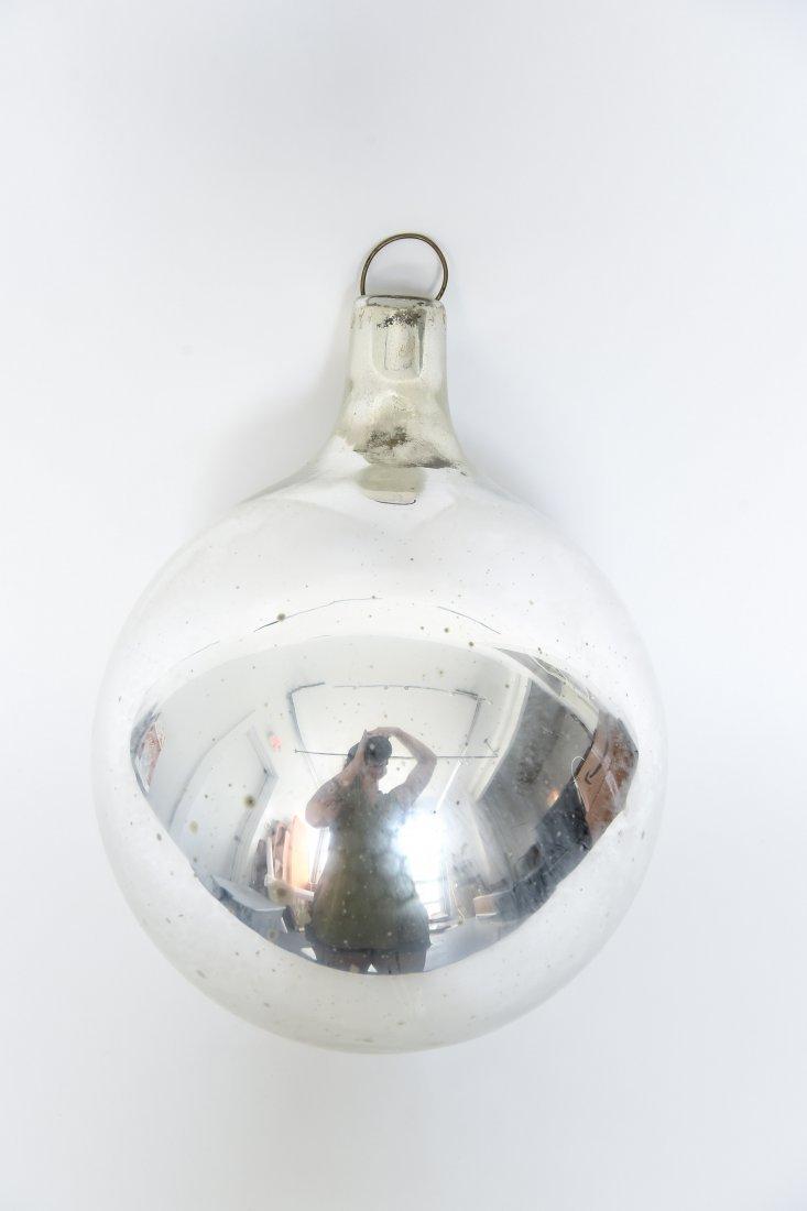 VINTAGE MERCURY GLASS OVERSIZE ORNAMENT - 2