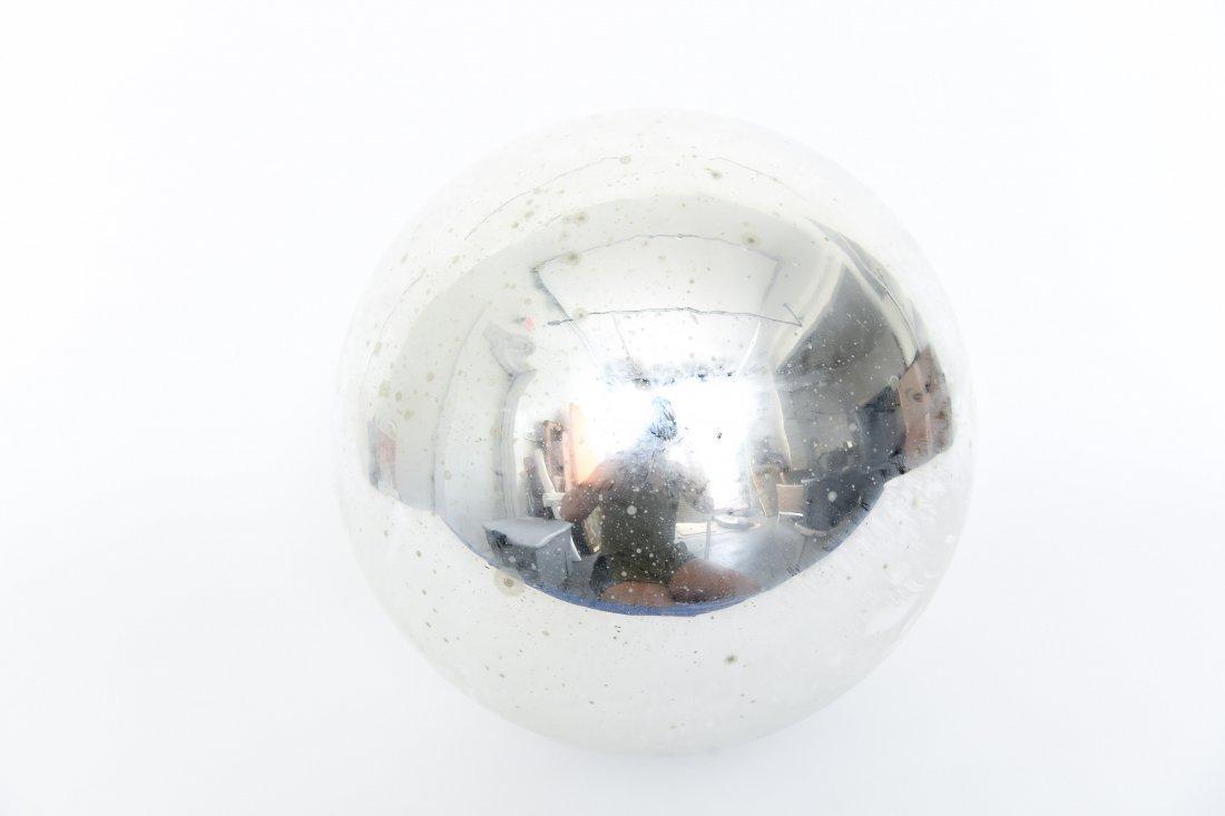 VINTAGE MERCURY GLASS OVERSIZE ORNAMENT - 5
