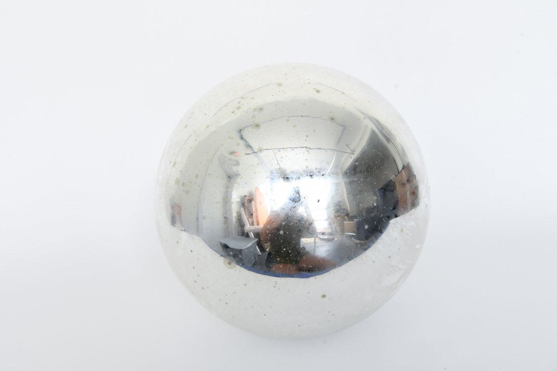 VINTAGE MERCURY GLASS OVERSIZE ORNAMENT - 6
