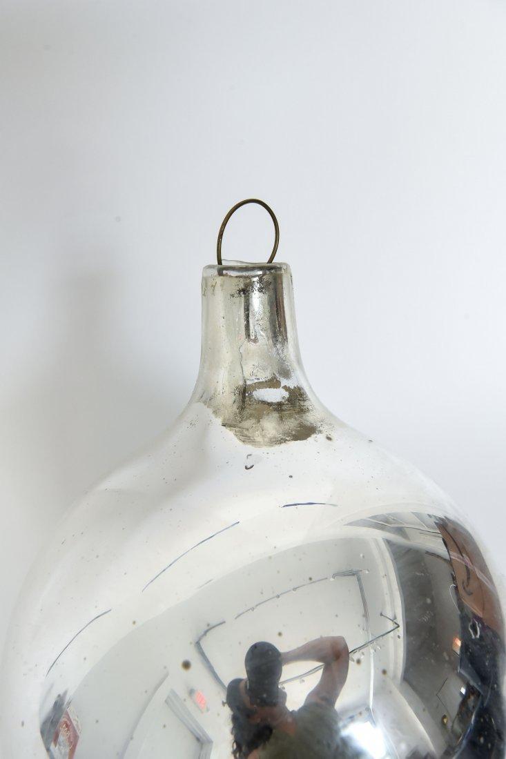 VINTAGE MERCURY GLASS OVERSIZE ORNAMENT - 8
