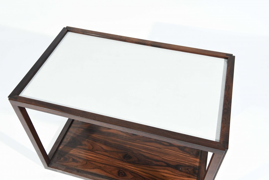 ROSEWOOD AND LAMINATE END TABLE - 2