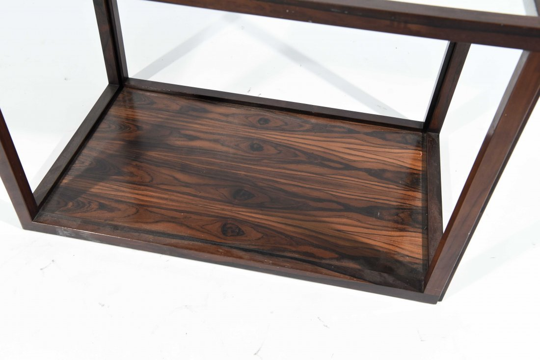 ROSEWOOD AND LAMINATE END TABLE - 3