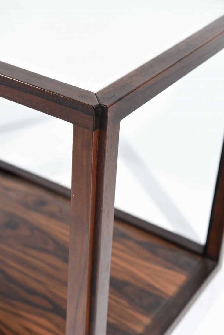 ROSEWOOD AND LAMINATE END TABLE - 4
