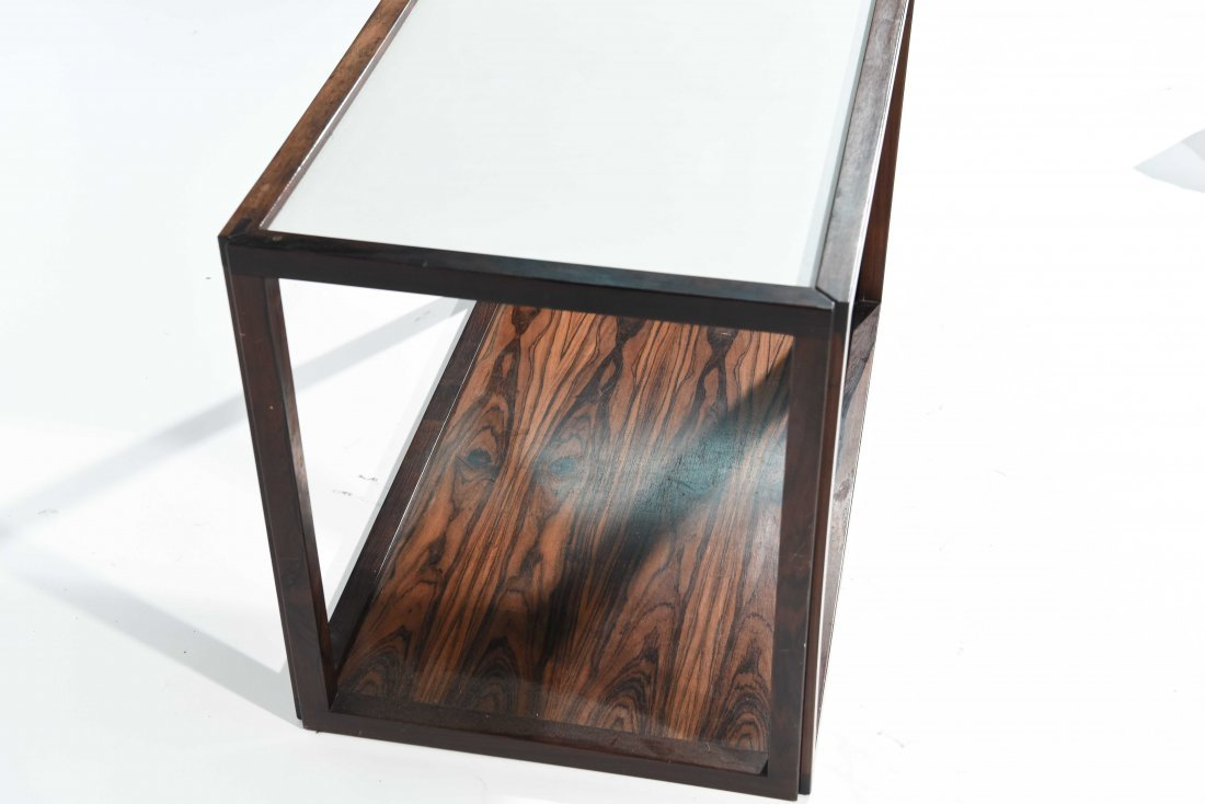 ROSEWOOD AND LAMINATE END TABLE - 5