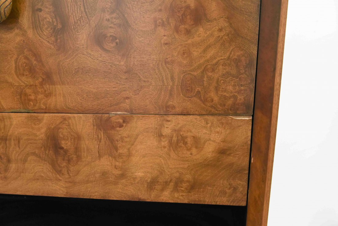 GILBERT ROHDE BURL DRESSER & BOOK SHELF - 7