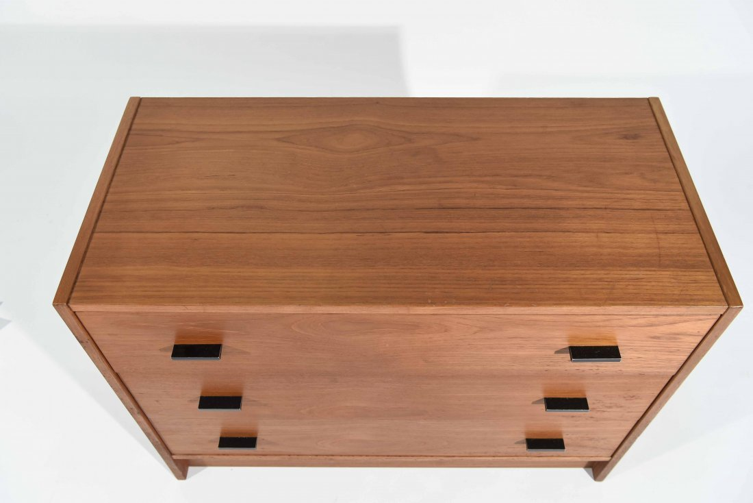 TEAK 3 DRAWER LOW CHEST - 2