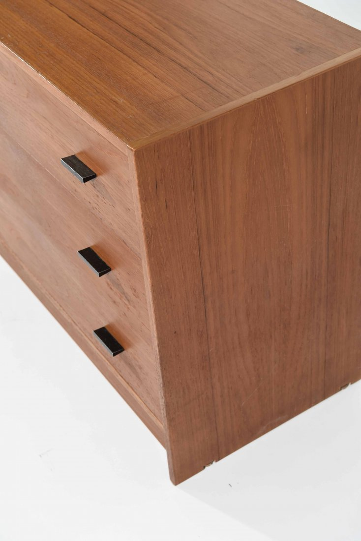TEAK 3 DRAWER LOW CHEST - 8