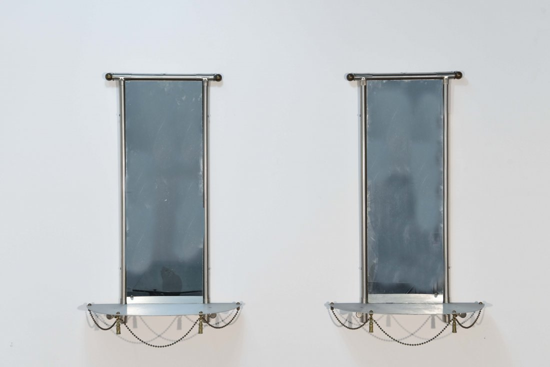 (2) HOLLYWOOD REGENCY STYLE WALL MIRRORS