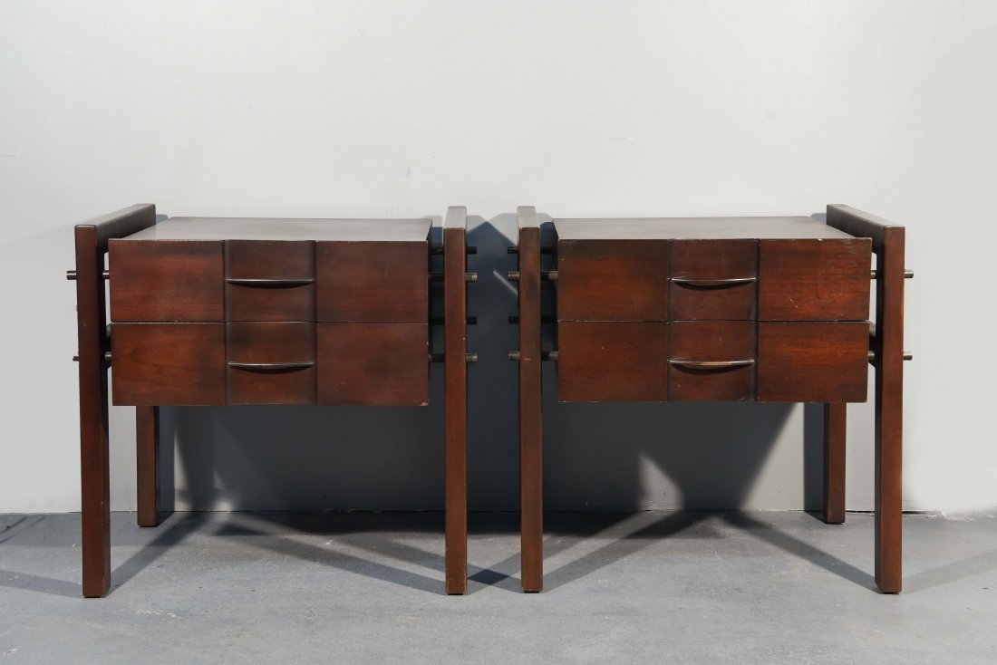 (2) EDMOND SPENCE SIDE TABLES