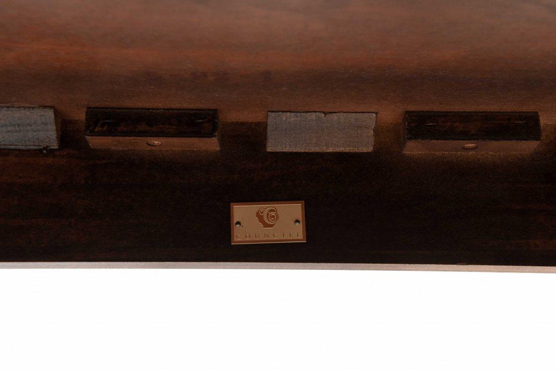 ANTIQUE INLAID FLIP TOP TABLE - 7