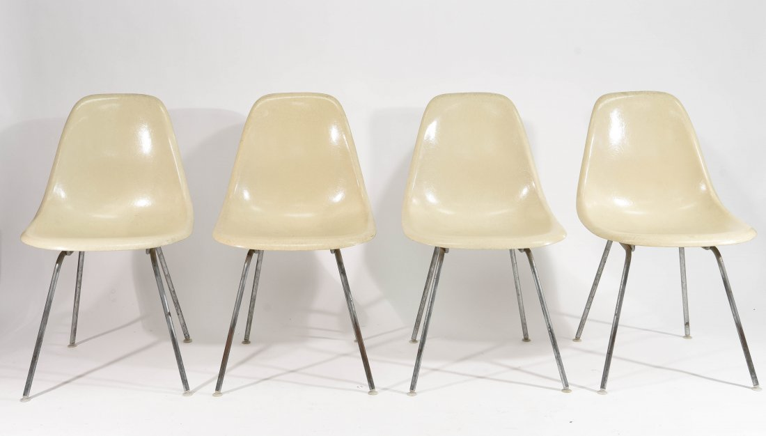 (4) EAMES FOR HERMAN MILLER FIBERGLASS CHAIRS